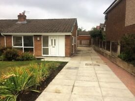 2 Bed semi-det. bungalow. Sought after area (Sharples, Bolton). £675.00 p.c.m (+1 months deposit).