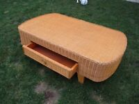 Large rattan coffee table - project?
