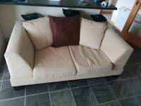 2 seater beige sofa/couch