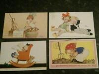 Mabel Lucie Attwell postcards x 4