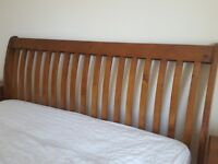 King size sleigh bed frame +2 bed side cabinets