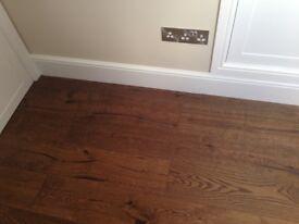 Approx. 4 sq metres of Berkeley Burnt Oak flooring cost £240.00 for sale £150.00