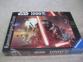 Ravens burger Star Wars 1000 piece jigsaw sealed