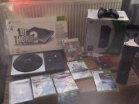LARGE XBOX 360 DJ HERO 2 BUNDLE & RENEGADE DECK