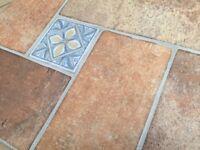 terracotta kitchen floor tiles 45x45cm total of 14m2