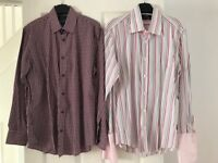 2 x men's long sleeved shirts- size S and 3 (£3 each)