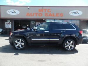 2011 Jeep Grand Cherokee Overland, LEATHER, GPS, BACKUP CAM, 4WD