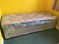 """3/4 single bed , 76"""" long 30"""" wide plus Under bed storage"""