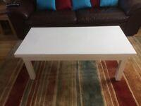 White coffe table