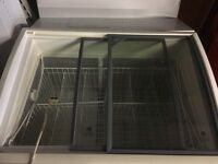 Commercial ice cream freezer cabinet