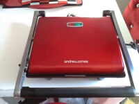 Andrew James Sandwich Toaster & Panini Press RED -USED