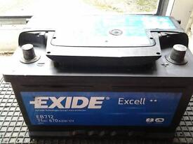 EXIDE EXCELL 71 AMP HOUR CAR BATTERY TO START LARGE PETROL OR DIESEL VEHICLE