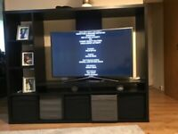 Black large tv stand