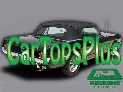 1964-1966 Mustang Convertible Top & Plastic Window, Black Cloth