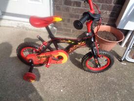 Boys Bike With Parent Steering Handle