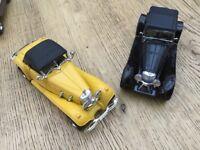 Six diecast models of classic 1930s cars