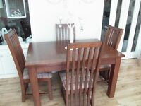 Dining Table and 6 chairs, as new