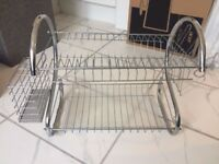 2 Tier Chrome Dish Rack