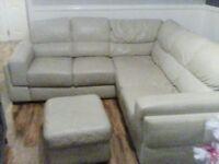 Beautiful cream corner sofa can deliver