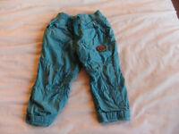 9-12 Month Boys Jade/Green Trouser