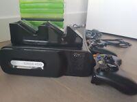 Xbox 360 Console BLACK 120G (2 Controllers + 9 Games + Venom Charging Unit + HDMI & LAN Cables)