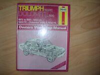 Haynes Triumph Dolomite Owners Workshop Manual.