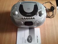 Stereo Radio cassette recorder with CD player