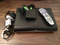 SKY PLUS HD and Sky Wireless MINI WiFi Adapter + remote and cables