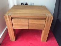 Solid Oak Bedside Cabinet with Drawers
