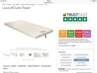 Natural Latex mattress topper for double bed (used but as new) - bargain at £170