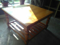 Coffee Table, Solid Wooden Coffee Table,