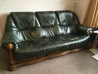 3 and 2 seater leather settees. Selling separately