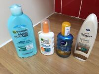 Set off 4 unused tanning lotions and aftercare