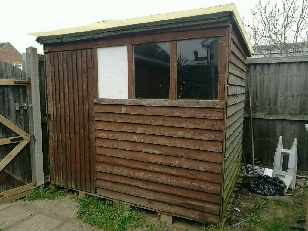 Wood shed 8ft x 6ftin Saxmundham, SuffolkGumtree - Wood shed for sale 8ft x 6ftAlready dismantled, ready to be collected.Need gone until next week