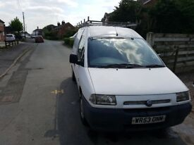 Fiat Scudo Van 2003 plate. Ex-camper van. Will go for miles if looked after.