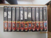 FREE VHS Videos Includes Bond Films, Blackadder, Pink Panther etc