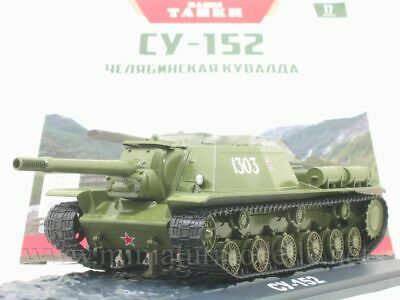 1:43 SU-152 Haubitze Panzer Modimio 17 Soviet Tank WWII Militär howitzer Russian