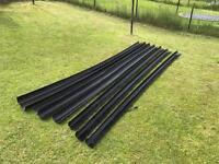 Black gloss PVC guttering