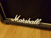 Crate 4x12 cab with Celestion Creamback G12h speakers and Marshall logo