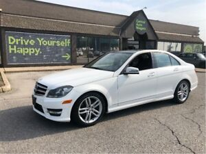 2014 Mercedes-Benz C-Class 300 / PANORAMIC SUNROOF / BLACK TOP E