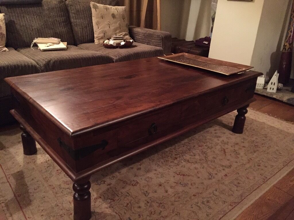Folding side table john lewis - John Lewis Solid Wood Maharani Coffee Table With Drawers In