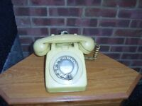 Old 1970,s mustard rotary phone