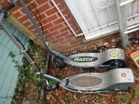 2 razor E300 scooters spares or repairs