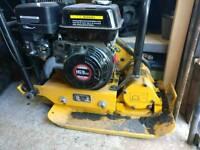 Petrol vibrating plate compactor.