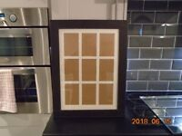 large faux leather picture frame