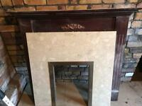 Fireplace surround and marble inset