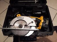 18v Dewalt Circular Saw - good condition with charger, battery and case