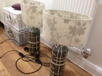 Habitat lamps £30 for a pair