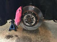 Subaru Impreza track car + trailer