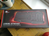 Gaming Keyboard with Multimedia Shortcuts